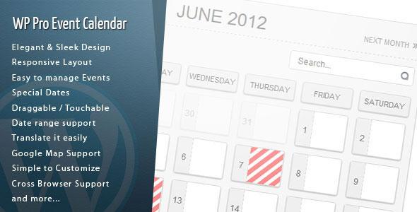 WordPress Pro Event Calendar v3.0.4 Plugin Download