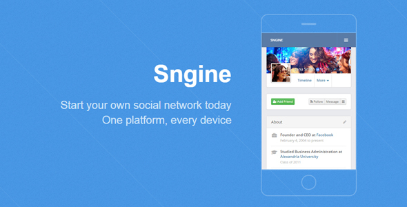 Sngine v2.5.6 – The Ultimate PHP Social Network Platform – nulled PHP Script