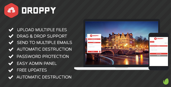 Droppy v2.0.9 – Online file sharing – nulled PHP Script Download