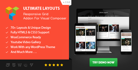 Ultimate Layouts v3.0.0 – Responsive Grid fo Visual Composer Plugin Download