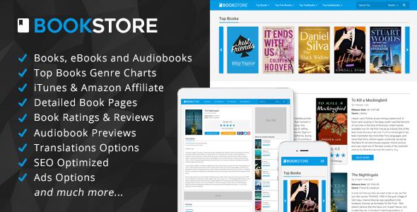 BookStore v1.3 – Books, eBooks and Audiobooks Affiliate PHP Script