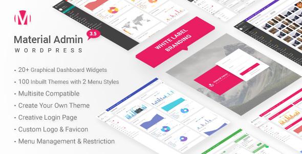 Material v5.1 – White Label WordPress Admin Theme Plugin Download