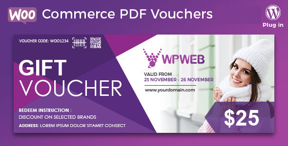 WooCommerce PDF Vouchers v3.7.6 – WordPress Plugin Download