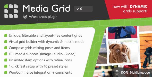 Media Grid v6.302 – WordPress Responsive Portfolio Plugin Download