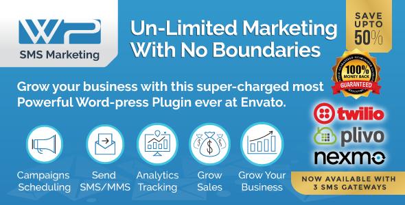 Wordpress SMS Marketing Plugin v8.7 Plugin Download