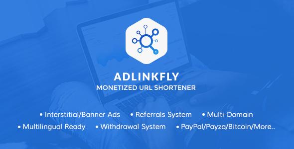 AdLinkFly v6.0.4 – Monetized URL Shortener – nulled PHP Script