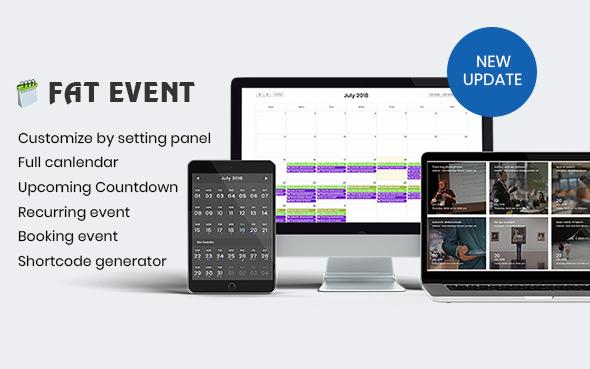 FAT Event v1.5.4 – WordPress Event and Calendar Booking Plugin Download