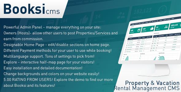 Booksi v1.3 – Property & Vacation Rental Management CMS PHP Script