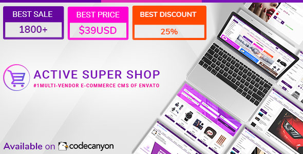 Active Super Shop Multi-vendor CMS v1.5.3 – nulled PHP Script Download