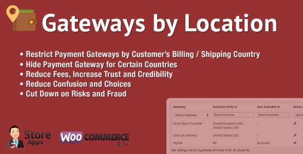 WooCommerce Gateways by Location v1.3.1 WordPress Plugin