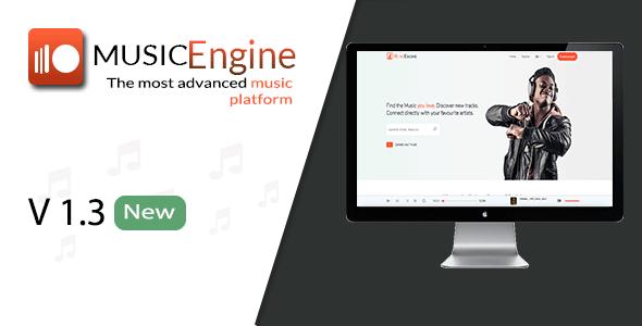 MusicEngine v1.3.1 – Social Music Sharing Platform PHP Script