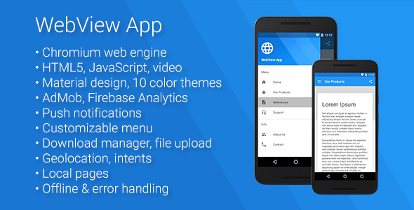 Universal Android WebView App v2.5.0 Mobile App Download