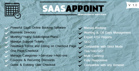 SaasAppoint PHP Script Free Download