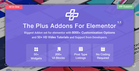 The Plus v1.2.0 – Addon for Elementor Plugin Download