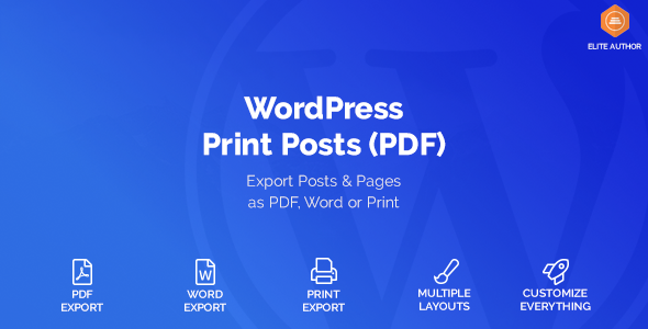 WordPress Print Posts & Pages (PDF) v1.1.5 Plugin Download