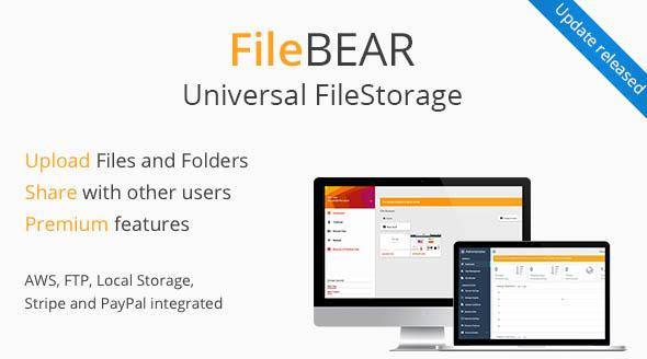 FileBear v1.7 – Premium File Sharing PHP Script Download