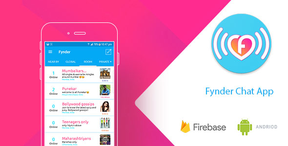 Fynder – Find, Chat, Meet – Realtime Chat Application with Firebase Mobile App Download