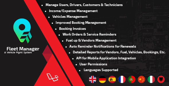 Fleet Manager v3.0 – A Vehicle Mgmt System PHP Script Download