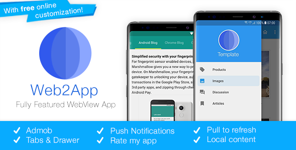 Web2App v3.3 – Quickest Feature-Rich Android Webview Mobile App Download