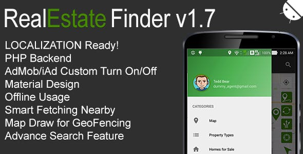 RealEstate Finder Full Android Application v1.7 Mobile App Download