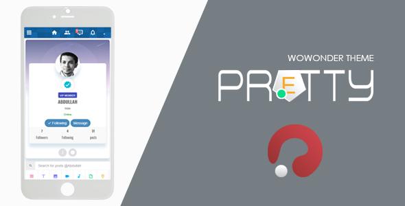Pretty-Theme for WoWonder Social PHP Script v2.0 PHP Script Download
