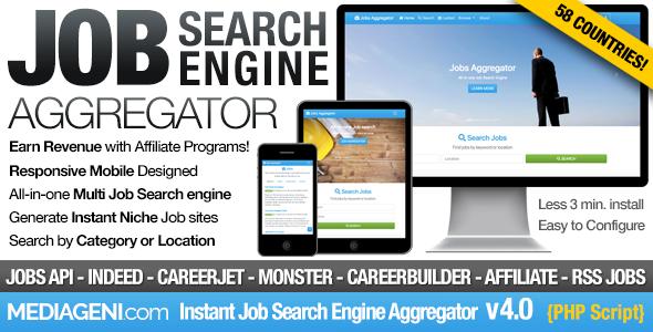 Instant Job Search Engine Aggregator v4.0 PHP Script Download