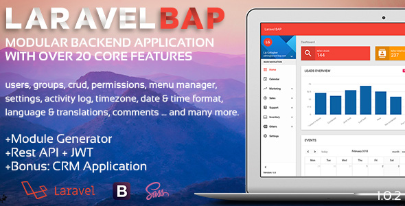 Laravel BAP v1.0.3 – Modular Application Platform and CRM PHP Script Download