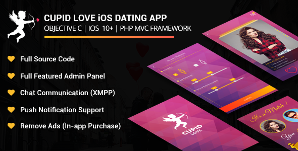 Cupid love iOS Native Application Mobile App Download