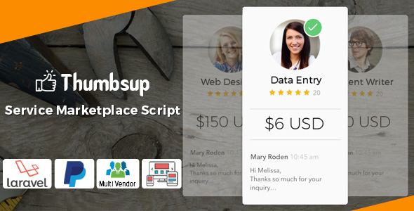 Thumbsup v5.0 – The Service Marketplace Legend PHP Script Download