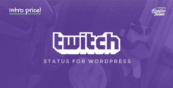 Twitch Status for WordPress v1.2 Plugin Download