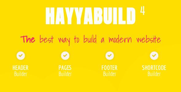 HayyaBuild v4.0 – WordPress Builder Plugin Download