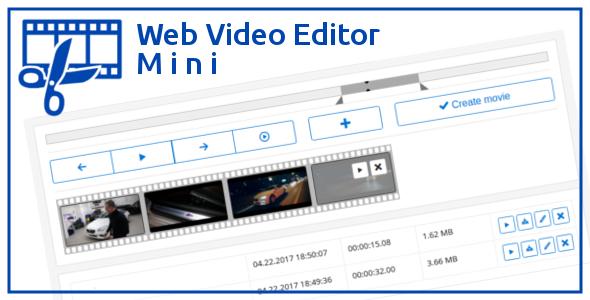 Web Video Editor Mini v1.2.1 PHP Script