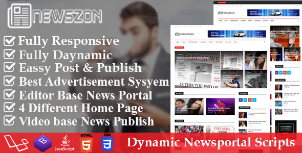 News Paper – Dynamic News Magazine and Blog Portal PHP Script
