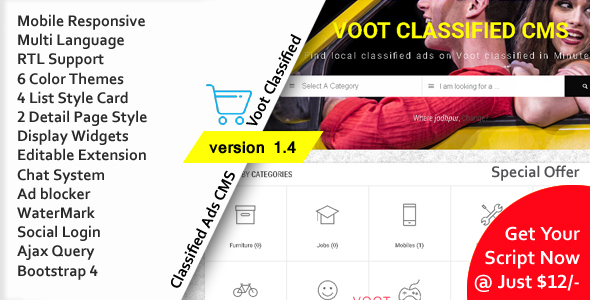 Voot Classified v1.4 – Classified Ads CMS PHP Script Download