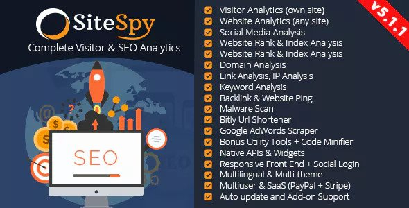 SiteSpy v5.1.1 – The Most Complete Visitor Analytics & SEO Tools – nulled PHP Script