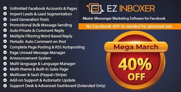 EZ Inboxer v7.0.2 – Master Messenger Marketing Software For Facebook – nulled PHP Script