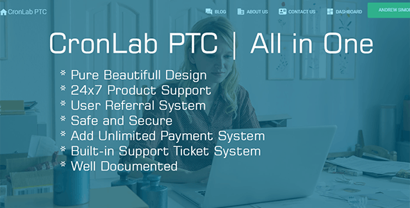 CronLab PTC v3.0 – All in One Script for PTC, HyIp, Crypto Trade & Money Investment PHP Script Download