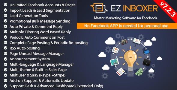 EZ Inboxer v7.2.3 – Master Marketing Software for Facebook – nulled PHP Script Download