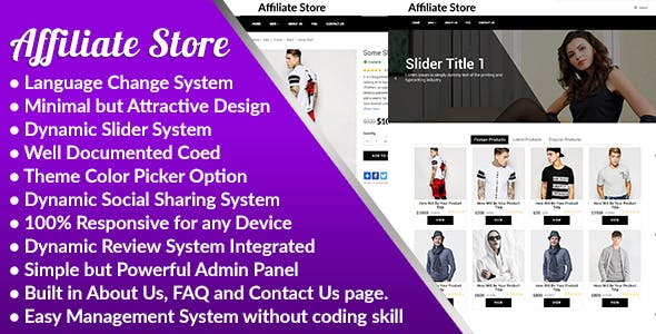 Affiliate Store v1.0 – Responsive Affiliate Store Management System – nulled PHP Script Download