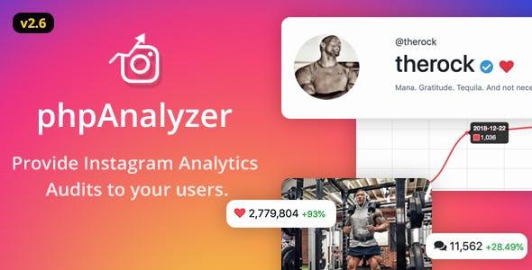 phpAnalyzer v2.6.2 – Instagram Analytics / Audit / Statistics Tool PHP Script Download