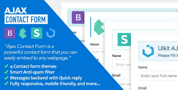 Ajax Contact Form with Bootstrap Semantic UI Bulma & UIkit Forms v1.1 PHP Script