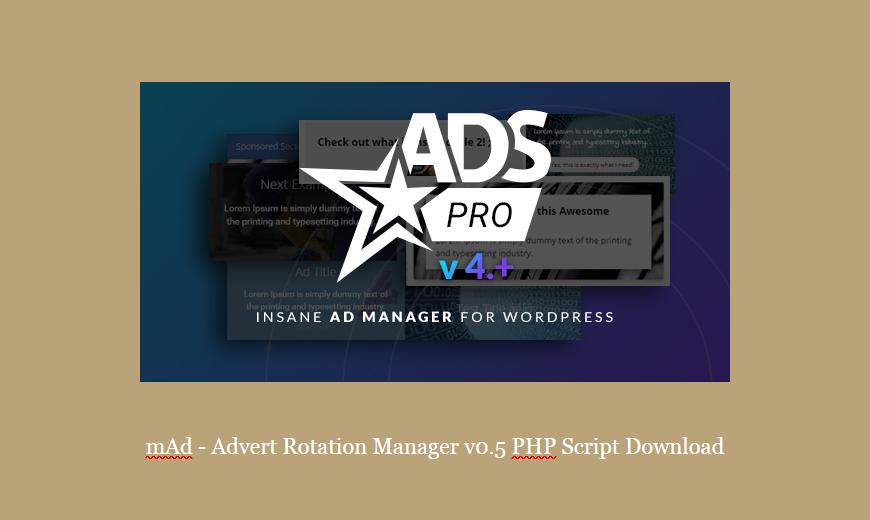 mAd – Advert Rotation Manager v0.5 PHP Script Download