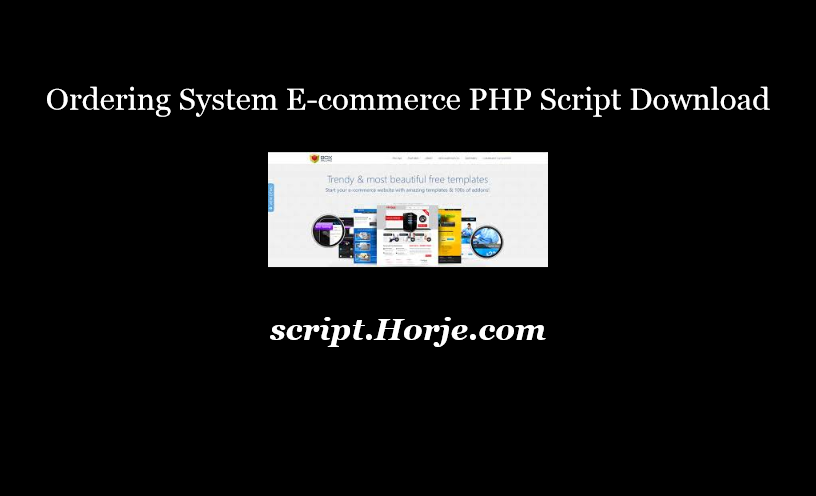 Ordering System E-commerce PHP Script Download