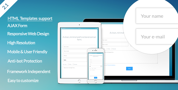 Vanilla Form – Modern & Responsive Contact Form PHP Script Download
