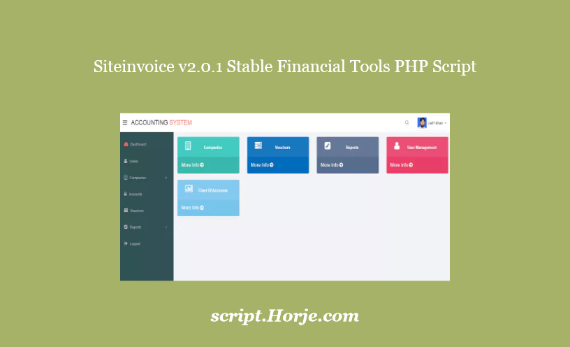 Siteinvoice v2.0.1 Stable Financial Tools PHP Script