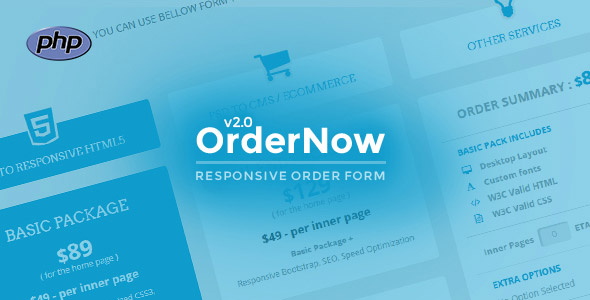 OrderNow – Responsive PHP Order Form PHP Script Download