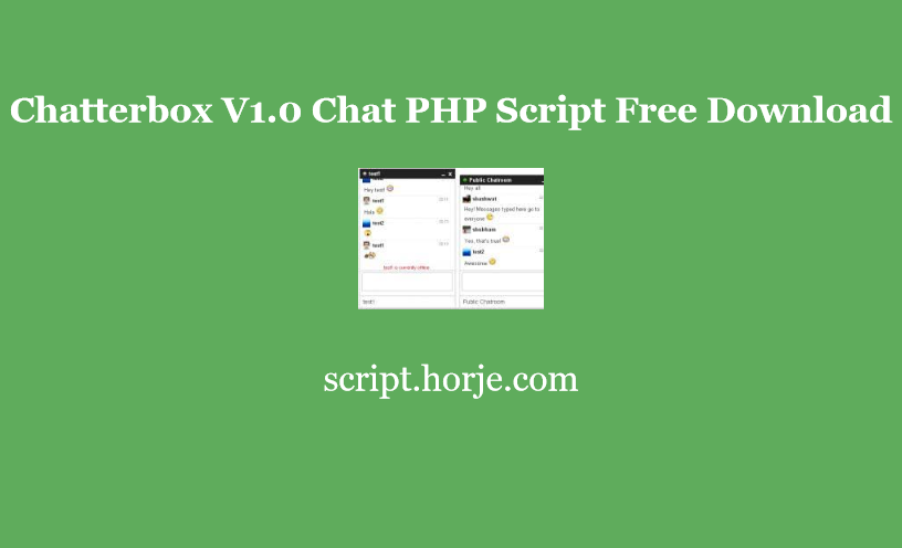 Chatterbox V1.0 Chat PHP Script Free Download
