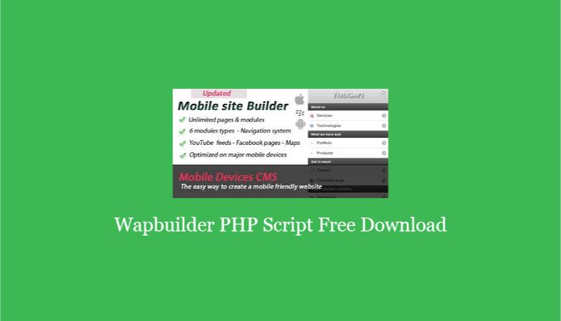 Wapbuilder PHP Script Free Download