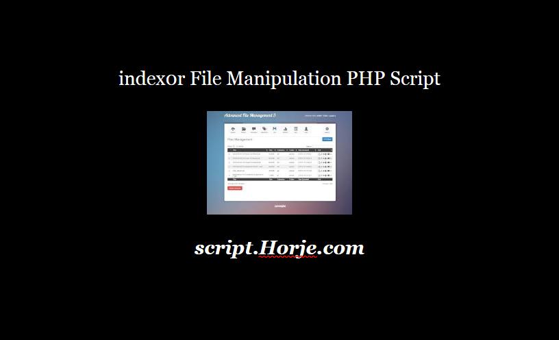 index0r File Manipulation PHP Script