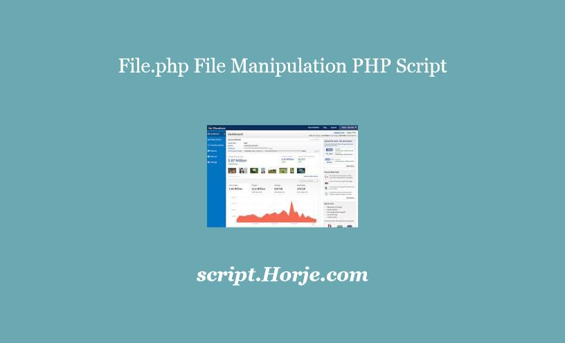 File.php File Manipulation PHP Script